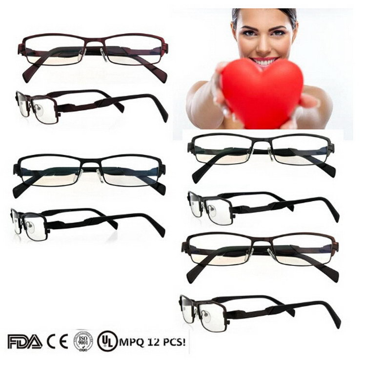 Eyeglass Frame In German Language : 2015 hotsell women men German rimless eyeglass frame with ...