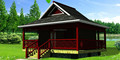 2015 nuevo diseño de la casa hecha de madera