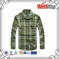 men fashion plaid long shirts of wholesale apparel manufacturers china french cuff cheap flannel shirts