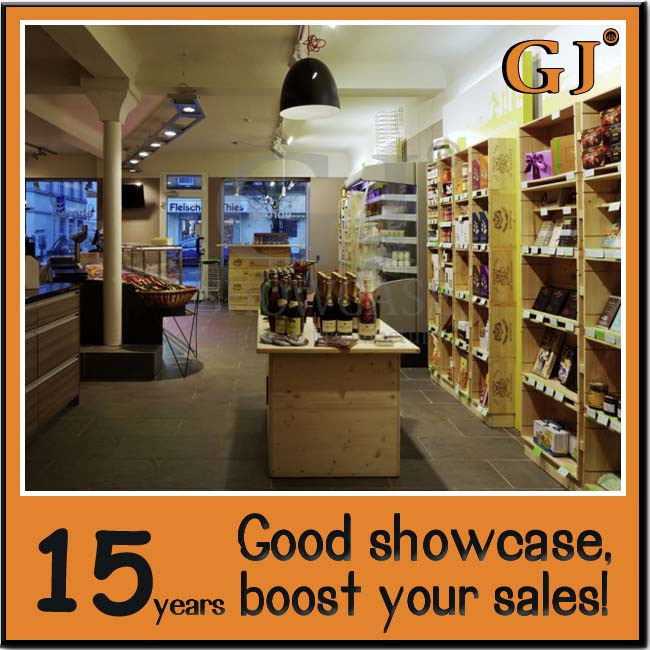 Commercial win shop decoration wine rack cabinet mdf wine for Wine shop decoration