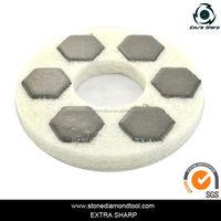200mm Restoration Buffing Diamond Sponge Polishing Pads