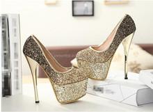 Round platform wedding bridal ladies high heel shoes china wholesale