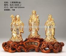 Good luck buddha statue /standing buddha statue/plated gold crafts