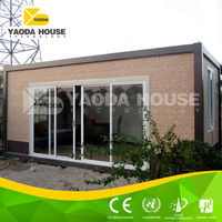 Modern design with steel structure prefab container house
