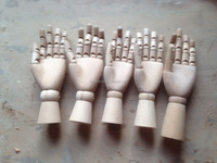 articulated wood praying mannequin hand