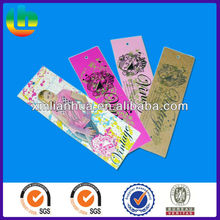 Customized printing full color paper on both side clothing hang tags