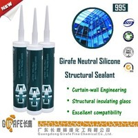 clear gule RTV UV Resistant structural silicone sealant for curtain wall