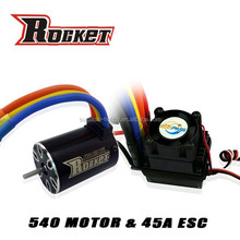 Rc car ESC 45A and motor Max Amps 30A combo RC toy - 1/10th Scale 4wd Brushless Moto rPowered off-Road Buggy Booster-Pro
