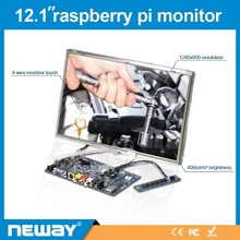 raspberry pi lcd moitor 12.1inch Linux Resistive touch SKD lcd screen module