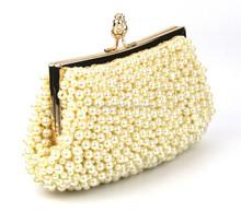 GZ QH elegant lady bags beaded evening bags pearl clutch bag