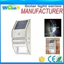 Solar pared del sensor de movimiento PIR luz de calle elemento exterior YH0607