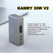UK bulk buy elektronik cigarett box mod 30w kamry 30 watt box mod e-cigarette made in China