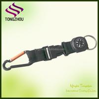 Custom compass keychain with carabiner