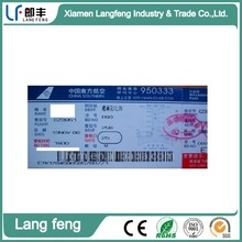 High quality fatory supply airline boarding pass ticket