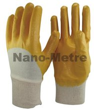 NMSAFETY interlock liner coated orange nitrile industrial rubber glove