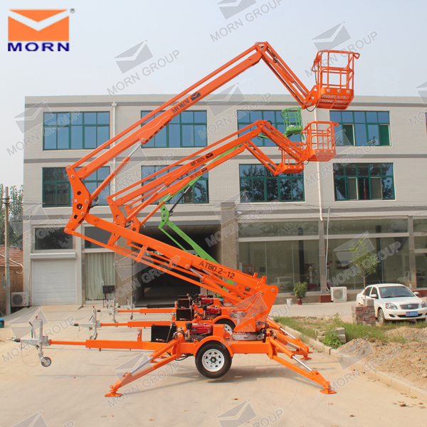 Mini Boom Lift : M to towable trailer mounted mini boom lift buy