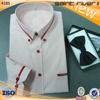 4185S Long Sleeve Shirt Mens Dress Shirt And Pants For Working Wear