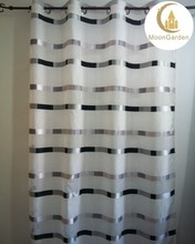 african wholesale curtains horizontal sheer jacquard fabric curtain for office