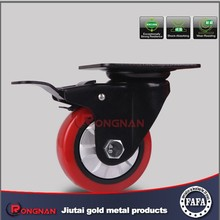 Industrial heavy duty swivel caster wheel ,top-plate caster with total brake