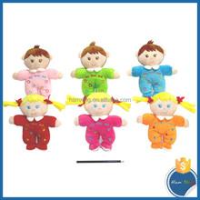 New Toys 2015 wholesale soft baby plush toys cute cartoon stuffed love boy and girl dolls