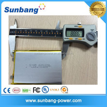 High quality 3.7v rechargeable lithium polymer battery 6500mah for tablet pc