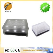 Outdoor decorated brightness solar led glass brick