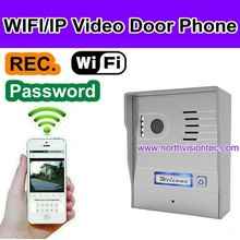 wifi door bell camera with wireles intercom, P2P, video/photo for apartment, home security