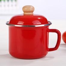 high-grade products 14 cm 16cm enamel camping noodle mug with enamel lid