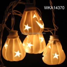 Outdoor decoration ceramic pumpkin halloween lighting