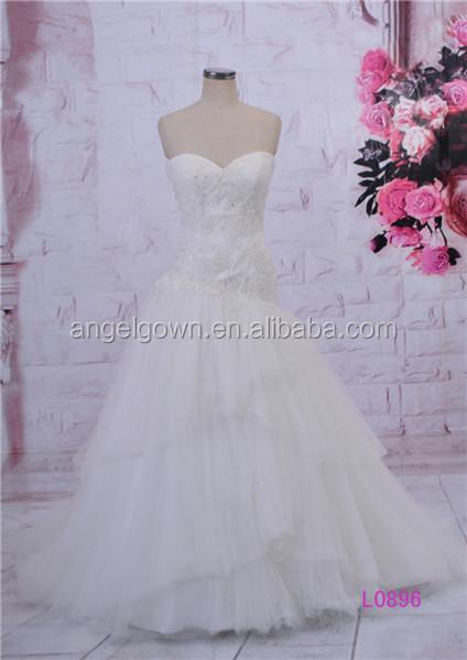 White puffy chiffon wedding dress with diamonds online for Puffy wedding dresses with diamonds