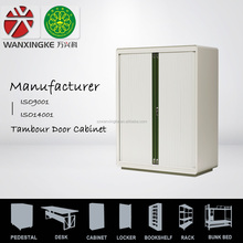 Round Edge Counter Height tambour door filing cabinet