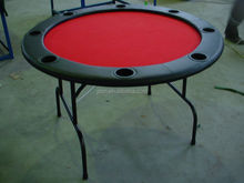 "48"" cheap folded round poker tables with wheels / with fold metal legs"