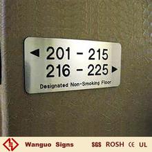 Hotel on door metal sign