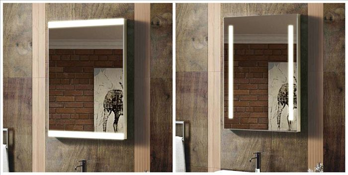 Hollywood Style Modern Bathroom Mirror With Lights Built In At Bu0026Q ...