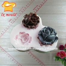 pasta de azúcar forma de la flor de silicona para hornear la torta del molde