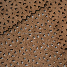 designer fabric punched suede textile for popular garment