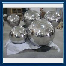 rusty metal decorative hollow steel mordern mirror steel ball with hole