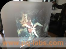 NJPQ 3D Holographic screen film hologram projector rear projection film transparent/grey/dark grey/ white colors optional