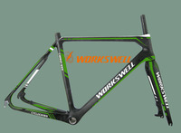 700C cyclocross bicycle carbon frame ,Disc cyclocross bike frame, Pivot Brake cyclocross carbon frame