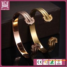 estilo simpre elegante brazalete chapado en oro y rosa oro