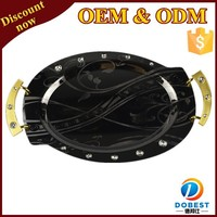 stainless steel oval serving tray for wedding T193-3