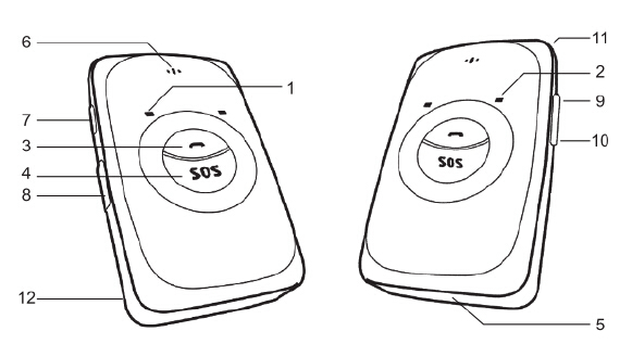 Mini Children GPS Tracker Earrings for Kids/Hidden GPS Tracker for Kids