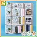 Baratos tallado de muebles plegables de almacenamiento de pantalla estante para libros