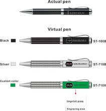 Carbon fiber promotion metal pen (ST-100B)