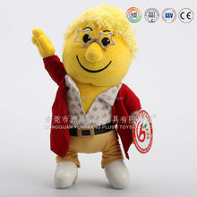 Plush uncle doll,plush 3D man photo face doll