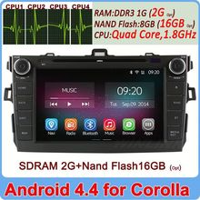 Ownice C200 HD 1024*600 Quad Core Android 4.4 Cortex A9 car head unit for toyota corolla 2006-2011 2G Ram+16GB Flash