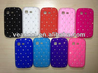 Luxury Bling Diamond Crystal Star Soft Silicone Case Cover for Samsung Galaxy Pocket S5300