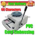 68 cartas manual de grabación en relieve de la máquina magnética de plástico de pvc máquina impresora de tarjetas
