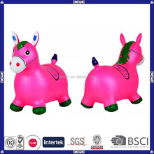 China supplier inflatable PVC red ride-on bouncy animal