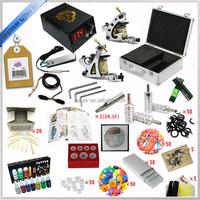 Professional top 2 gun machine with aluminum case Free shipping tattoo kit